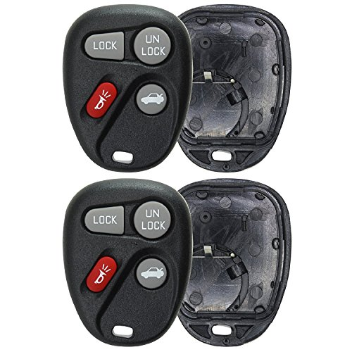 KeylessOption Just the Case Keyless Entry Remote Key Fob Shell For 16245100-29, 16263074-99 (Pack of 2) (99 Gmc Key Fobs compare prices)