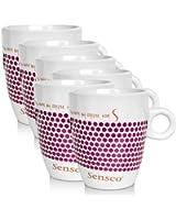 6 x Senseo Design tasses de porcelaine spéciale édition, violet, 160 ml