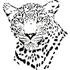 Leopard Wall Decal Sticker - Animal Decoration Mural - 24 in. Black