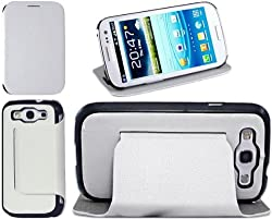 Callmate Table Talk Flip Case with Stand for Samsung Galaxy S3 I9300 (White)