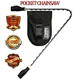 Pocket Chainsaw Survival Gear with Cutting Teeth Every Link - Protect your investment * Best Lifetime Guarantee * A Pocket Chainsaw Military Survival Kit must have for your checklist kit and tactical wilderness survival disaster preparedness by SG®