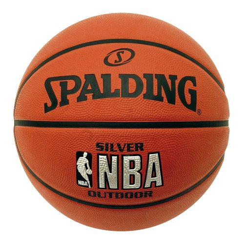 SPALDING NBA Silver Outdoor Basketball (7) - Brown