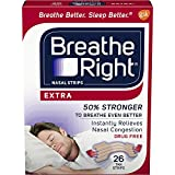 Breathe Right Extra Strength Tan Drug-Free Nasal Strips Snoring Remedy, 26 count