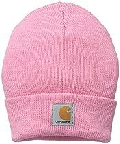 Carhartt Baby Girls' Acrylic Watch Hat, Rosebloom, Toddler