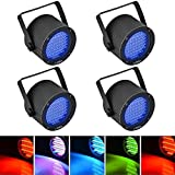 Litake 4PCS Stage Lights, 86 LED RGB Party Lights, DMX-512 Stage Lighting Projector Par Lights for Party Disco Show Pub KTV Dj Light (Color: RGB, Tamaño: 4 Pack)