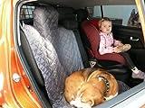 hochwertige Hundedecke mit Reißverschluß Autoschutzdecke Auto Schutzdecke Hunde 140x160cm graphit