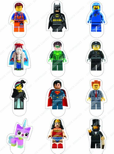 Cakeshop-12-x-PRE-CUT-Lego-Movie-Stand-Up-Edible-Cake-Toppers