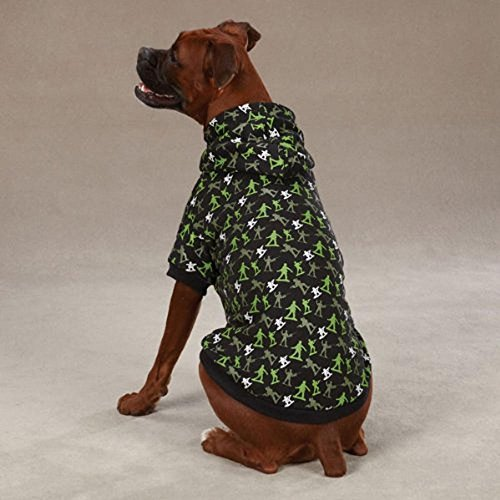 Zack & Zoey Polyester/Cotton Special Ops Dog Hoodie, X-Large, Black