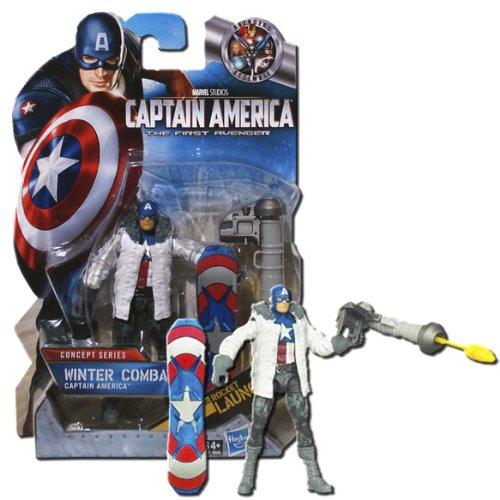 Captain America Movie 4 Inch Series 2 Action Figure Winter Combat Captain America