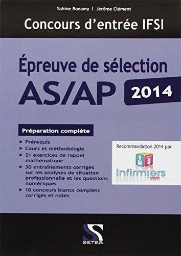 Concours infirmier Epreuve de sélection AS/AP 2014