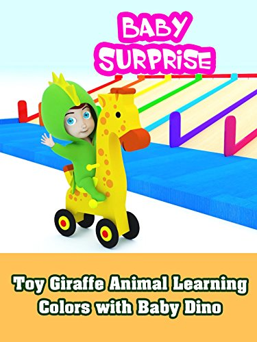 Toy Giraffe Animal Learning Colors with Baby Dino