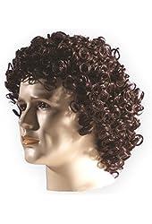 Brown Curly Mens' Wig