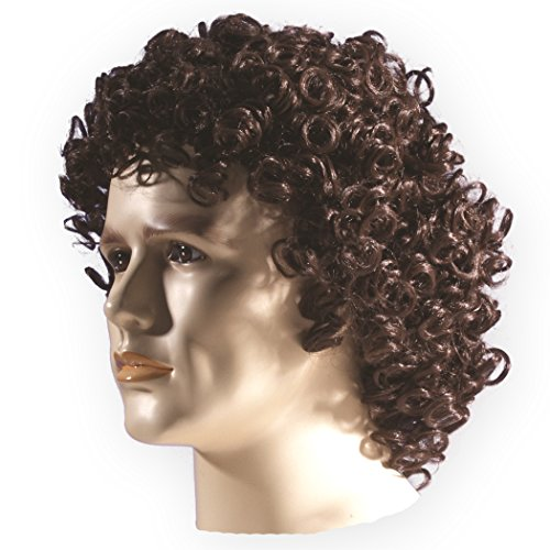 Star Power Rock Star Doctor Curly Wig Mens Adult One Size Brown