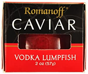 Romanoff Caviar Vodka Red Lumpfish Caviar, 2-Ounce Jars (Pack of 4) by Romanoff