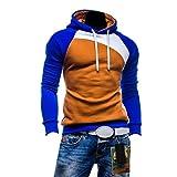 Hee Grand Mens Color Block Slim Hooded Jacket Hoodies