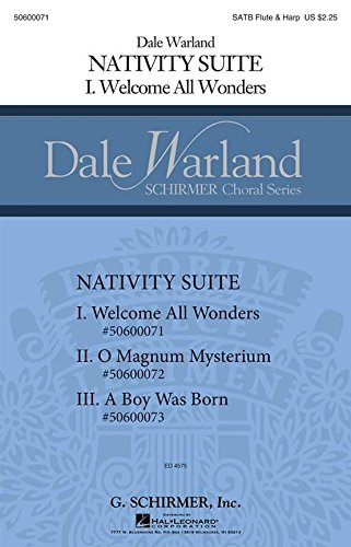 Welcome All Wonders - SATB with Flute and Harp - Stimme