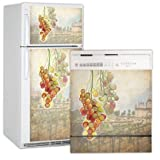 Tuscan Grapes Refrigerator and Dishwasher Combo Appliance Art (T&B) ~ Grip Promotions