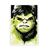 PosterGuy Hulk Inspired From Movie Fan Art Abstract Paint Poster (A4)