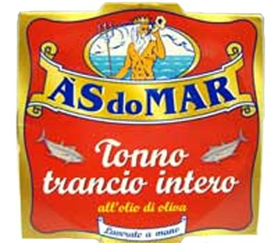 A's Do Mar Tonno Trancio Intero Tuna Packed in Olive Oil (200GRAMS) by A's do Mar
