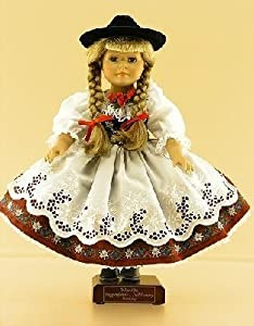 Bavarian Girl German Porcelain Doll from Walter Schneider