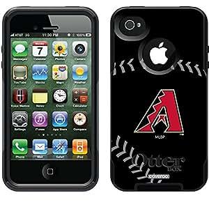 Coveroo Arizona Diamondbacks Stitch Design Phone Case for iPhone 4s/4 - Retail Packaging - Black