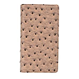 Jo Jo Cover Croc Series Leather Pouch Flip Case For Videocon A53 Pale Taupe