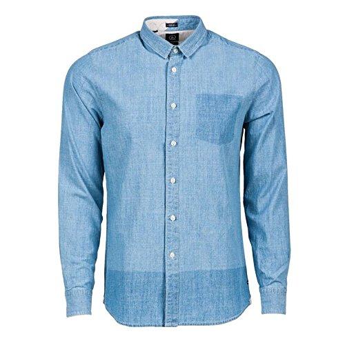 Volcom Shadow Denim S/L-Camicia a maniche lunghe da uomo BLU blu XL