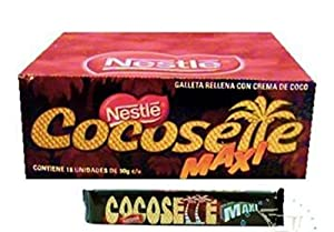Nestle Cocosette Maxi Galleta Rellena De Coco 900 grs.(18 pieces of 50 grs.each)