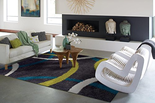 Modern Gray Blue White Green Shag Area Rugs 5x7 Rug For Living Room Under 50 Rug For Bedrooms 5x8 Gray Soft Rug 5 by 7 Rugs Cheap Rug Set