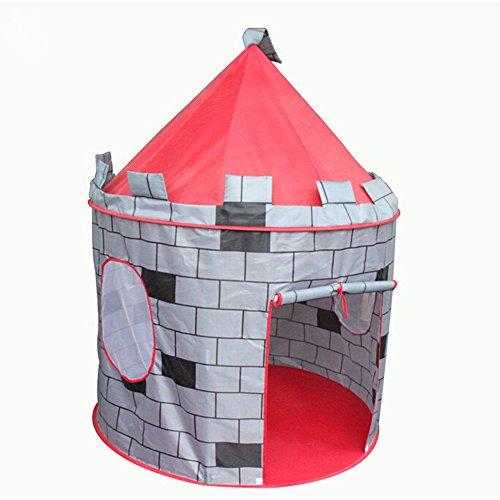 Neu-tragbar-Kinderzelt-Kinderschloss-Burg-Spielzelt-Zirkuszelt-rosa-Pop-up-Spiel-Zelt-Kids-Mdchen-Prinzessin-Schloss-Engel-Outdoor-indoor-Haus