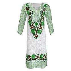AKS Lucknow Women's Georgette Regular Fit Kurti