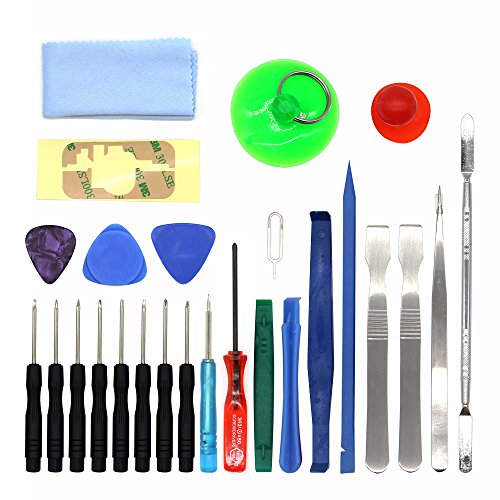 Kingsdun Tools 25 IN 1 Professional Universal Screen Removal Opening Repair Tool kit Pry Tools Kit Set Disassemble Kits For phone ,Ipad, Laptop and other mobile device (Kit Of Tools Repair compare prices)
