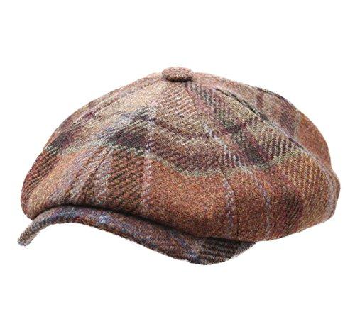 stetson-cappellino-piatto-uomo-hatteras-virgin-wool-check-size-m-marron-carreaux-287