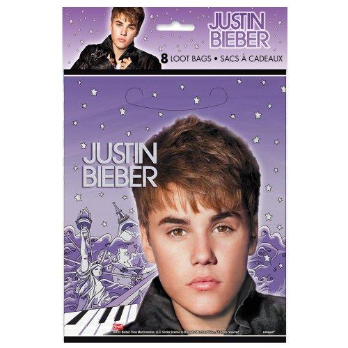 Justin Bieber Favors Bags, 8ct