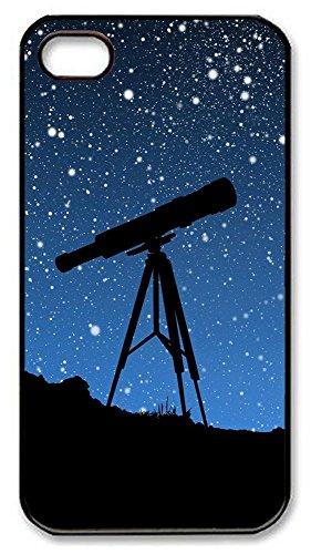 Iphone 4 4S Case Sky Telescope Pc Custom Iphone 4 4S Case Cover Black