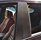 6x Alu geb�rstet Schwarz T�rzierleisten Verkleidung B S�ule T�rs�ule passend f�r Ihr Fahrzeug
