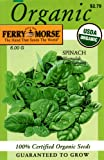 Ferry-Morse 3121 Organic Spinach Seeds, Bloomsdale Long Standing (6 Gram Packet)
