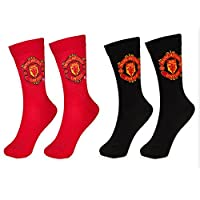 Manchester United 2 PAIR Pack of Mens Socks