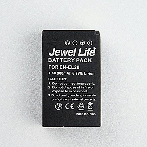 Nikon ニコン EN-EL20/EN-EL20a 互換バッテリー 純正充電器で充電可能 Nikon 1 J1/J2/J3/S1/AW1/V3ジュエルライフPSE・CEマーク付