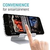 SAUS Stand Desktop Dock Cradle Station Bracket Holder Universal Mount for all Tablets Mobile Smartphone Cellular & eReader Devices (Brushed Aluminum)