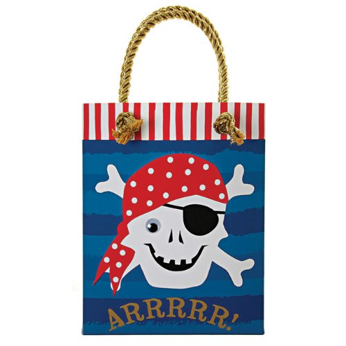 Ahoy There Pirate Party Bags - Pack of 8