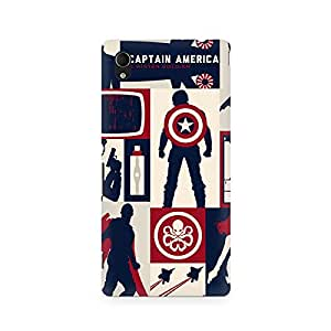 Mobicture Captain America Collage Premium Printed Case For Sony Xperia M4