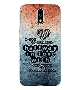 EPICCASE impressive heart Mobile Back Case Cover For Moto G4 / G4 Plus (Designer Case)