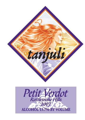 2007 Tanjuli Winery Petit Verdot Columbia Valley Rattlesnake Hills 750 Ml