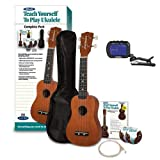 Alfreds Teach Yourself to Play Ukulele, Complete Starter Pack with Yamaha GCT1 Clip-On Chromatic Tuner