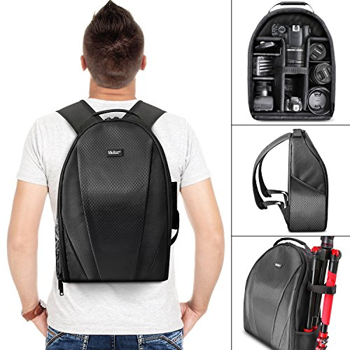Vivitar Camera Backpack Bag for DSLR Camera, Lens and Accessories (Dslr Camera Digital compare prices)