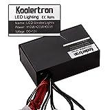 Koolertron 18 LED Vehicle Strobe Lights for Front Grille/Deck - Blue