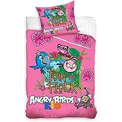 Exclusiv * 100% Angry Birds cotone biancheria da letto 135 x 200 biancheria da letto per bambini pregiata easybiz 2015
