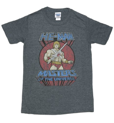 Officially Licensed Men's Classic He Man T Shirt Heather - S to XXL