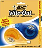 BIC Wite-Out Correction Tape, 2 Tapes